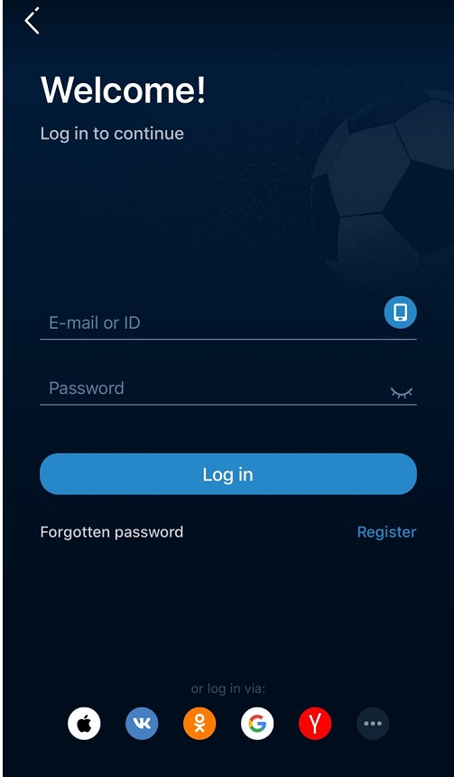 1xBet Login with Mobile Device